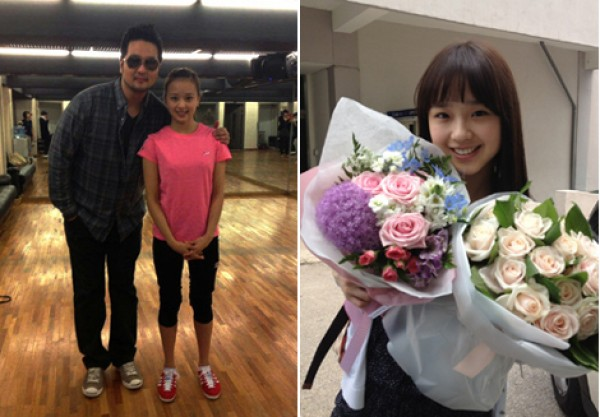 Kim Tae Woo Snaps a Photo with Rhythmic Gymnast Son Yeon Jae