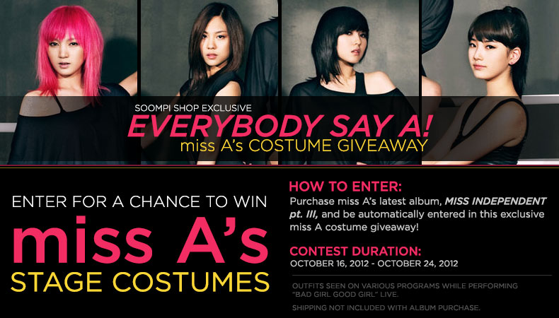 [Soompi Shop] Win miss A's Actual Stage Costumes!