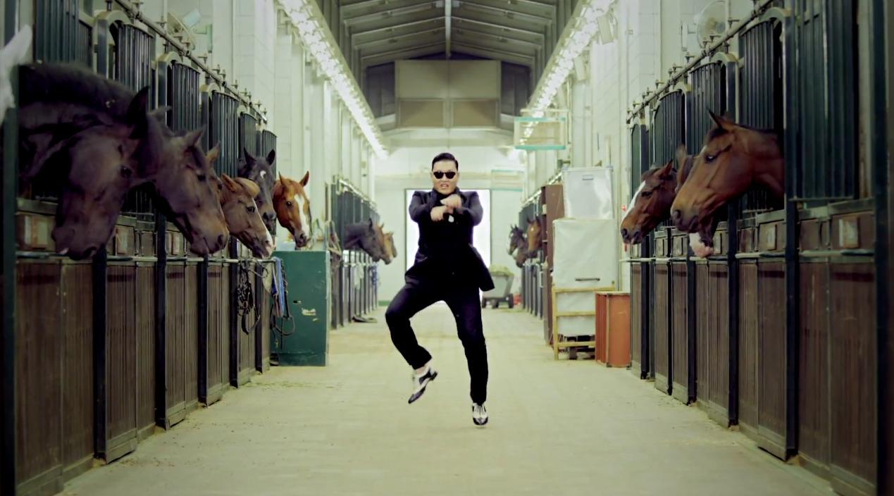 psy horse dance