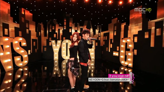"NS Yoon-G Performs ""If You Love Me"" Feat. Dalmatian's Simon for Music Core Comeback"