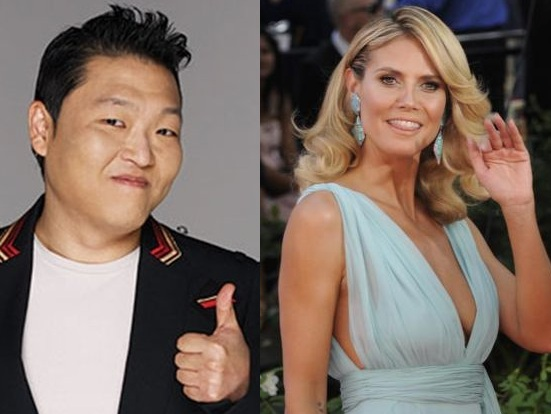 "PSY and Heidi Klum Go On a ""Gangnam Style"" Date!"