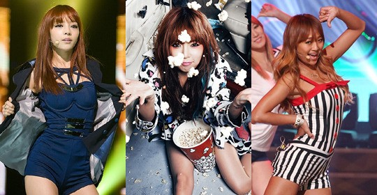 Goo Hara, HyunA and Hyorin to Replace Lee Hyori as Soju Models