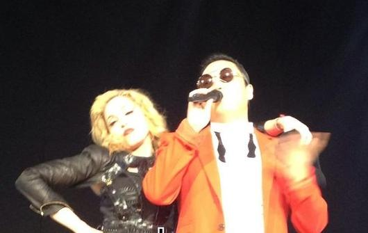 PSY Tears It Up with World Diva Madonna in NYC