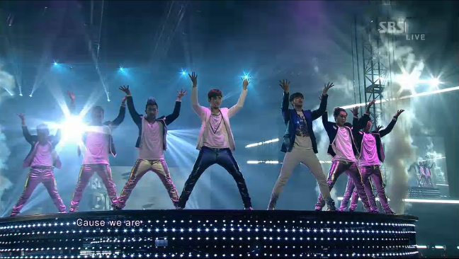 """DBSK Reveals Their First Live Performance of """"Humanoids"""" on Inkigayo"""