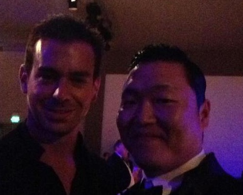 Psy Takes Friendly Shot with Twitter's Founder Jack Dorsey