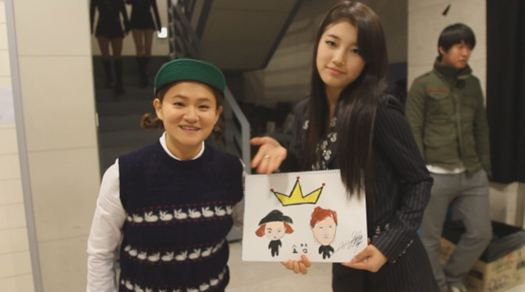 Suzy Shows Off Her Drawing Skills…Again!