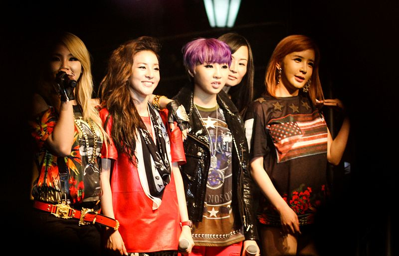 2NE1's Colorful Group Photo