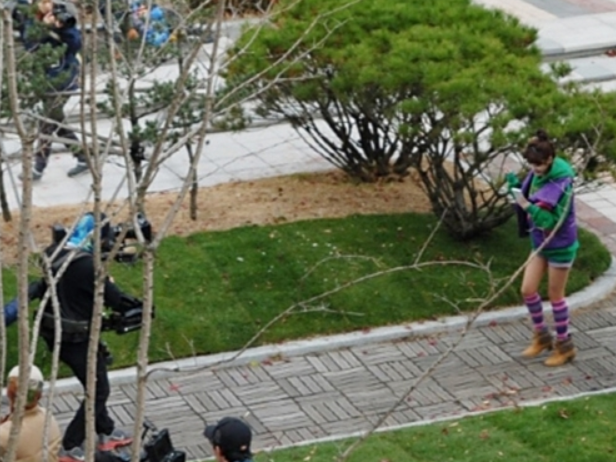 IU Recently Filming in the Cold