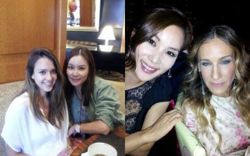 Go So Young Takes Friendly Photos with Jessica Alba and Sarah Jessica Parker