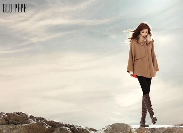 Park Han Byul Flaunts Her Long Legs in Her New Winter Pictorial