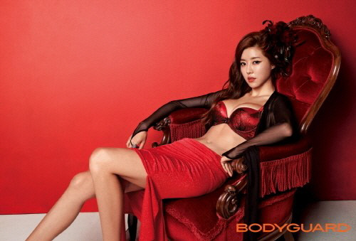 Park Han Byul Looks Smoking in Her Lingerie Pictorial