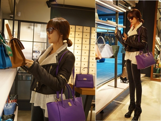 Sung Yuri Shows Off Her Unbelievably Long Legs While Shopping