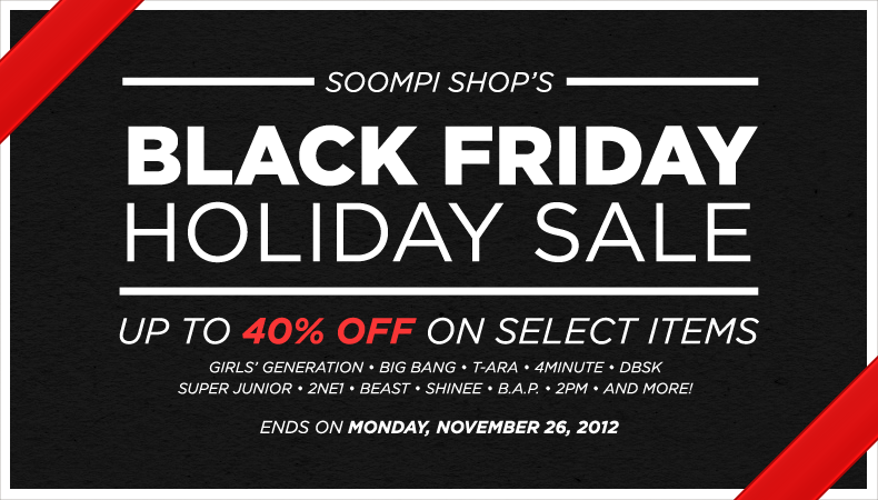 [Soompi Shop] Announcing Black Friday Sale From November 23 to 26!