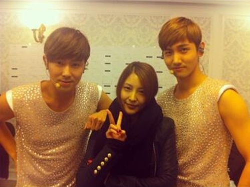 BoA Shows Support for DBSK World Tour