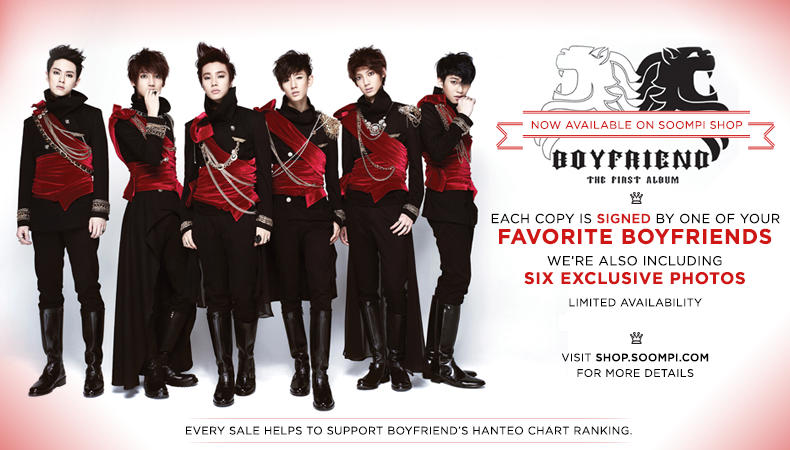 """[Soompi Shop] Autographed Boyfriend """"Janus"""" CD Special Package Back in Stock!"""