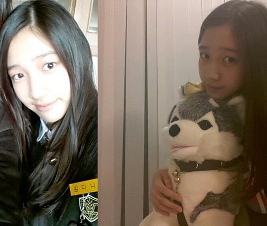 T-ara's Dani Shows Off her School Uniform with Brownie