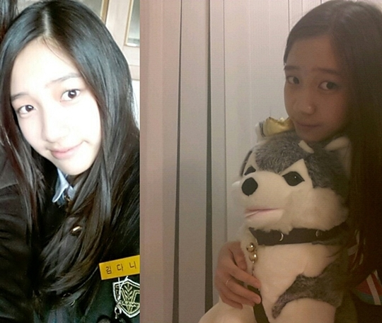 T-ara's Dani Shows Off her School Uniform with Brownie