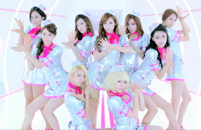 Girls' Generation Shows Off a Hot Pink Flight Crew Look