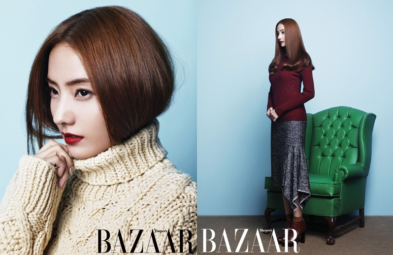 """Han Chae Young Rocks Red Lips for """"Harper's Bazaar"""""""