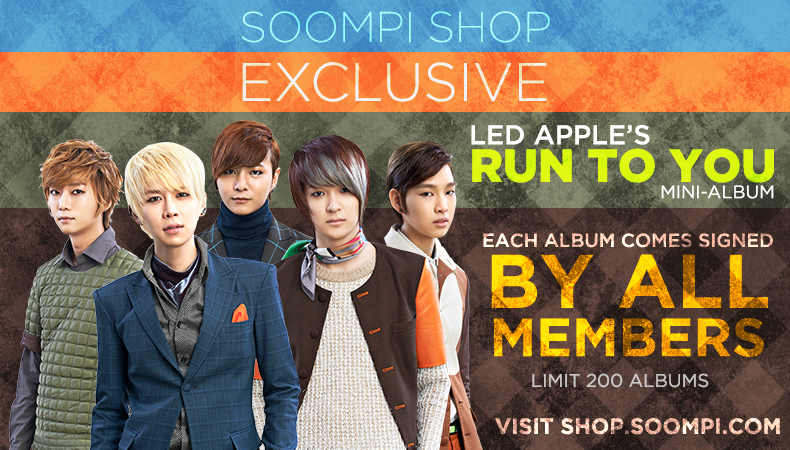 "[Soompi Shop] Autographed LED Apple ""Run To You"" CD Special Package!"