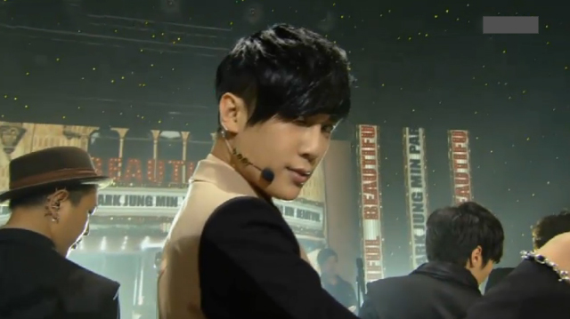"Park Jung Min Performs ""Beautiful"" for Inkigayo Comeback"