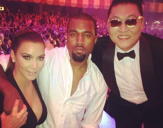 PSY Poses For a Photo with Kim Kardashian and Kanye West