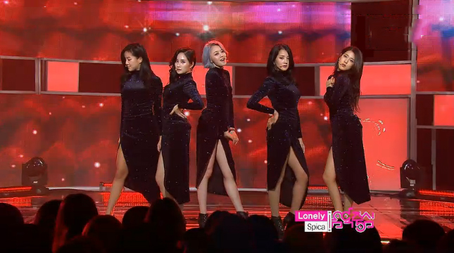 "SPICA Makes Their Comeback Performance on Music Core with ""Lonely"""