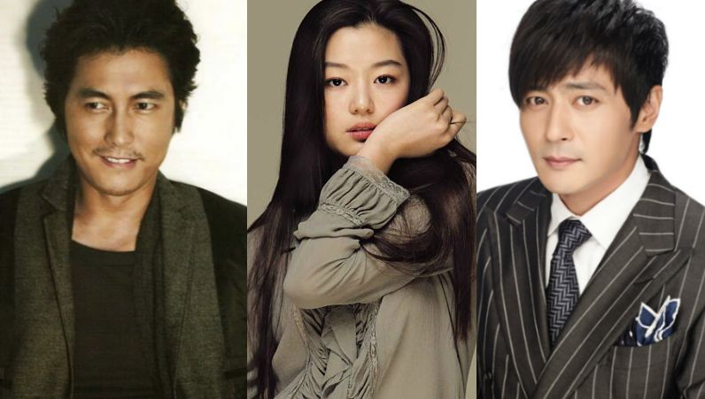 "A-Listers Jung Woo Sung, Jeon Ji Hyun and Jang Dong Gun's Past ""Threesome"" Pictures Resurfaces"
