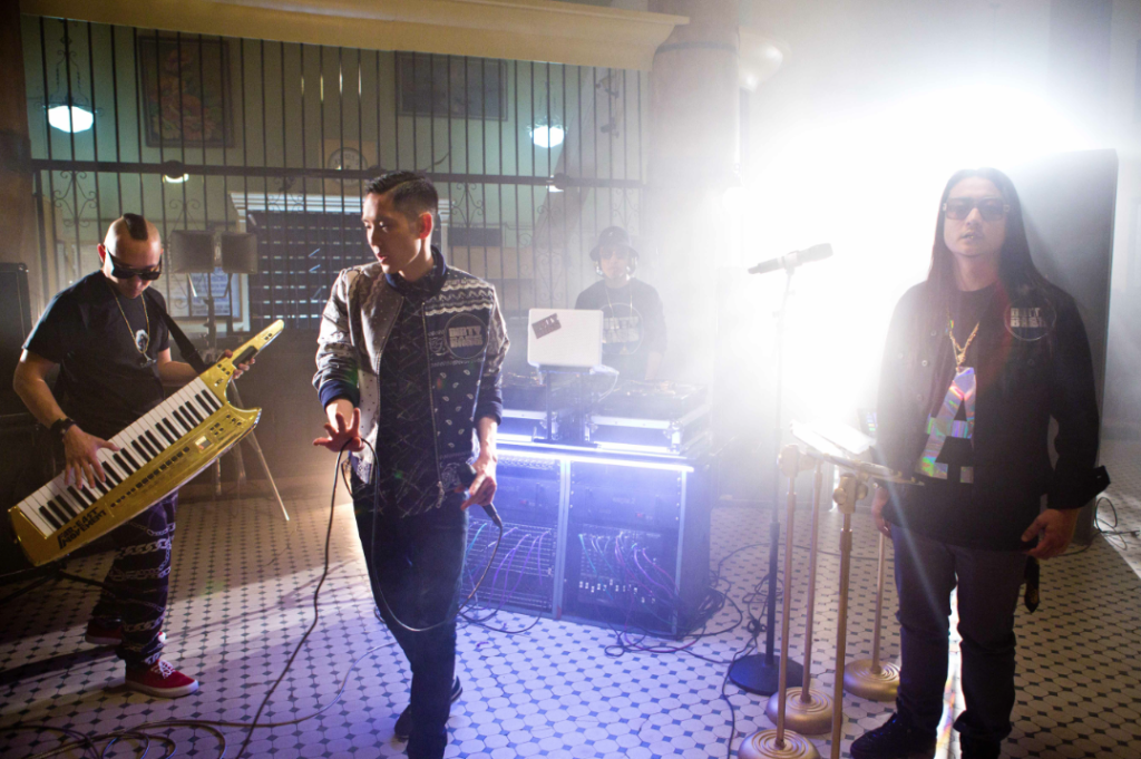 Far East Movement Goes Behind-the-Scenes and Shows off Gold Keytar in Latest Video