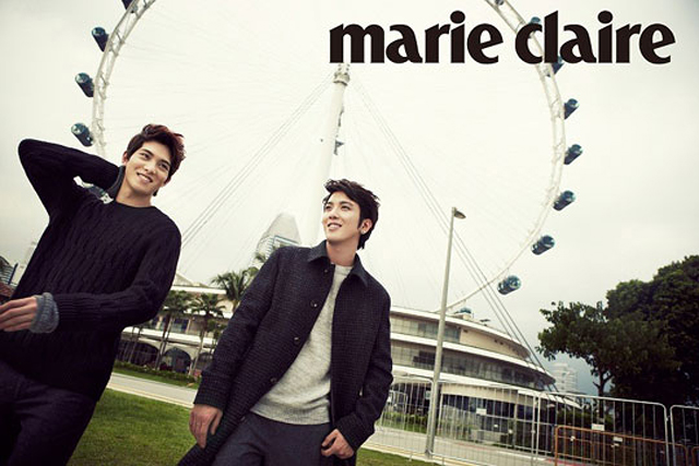"""CNBlue's Jung Yong Hwa and Lee Jong Hyun Look Classy for """"Marie Claire"""""""
