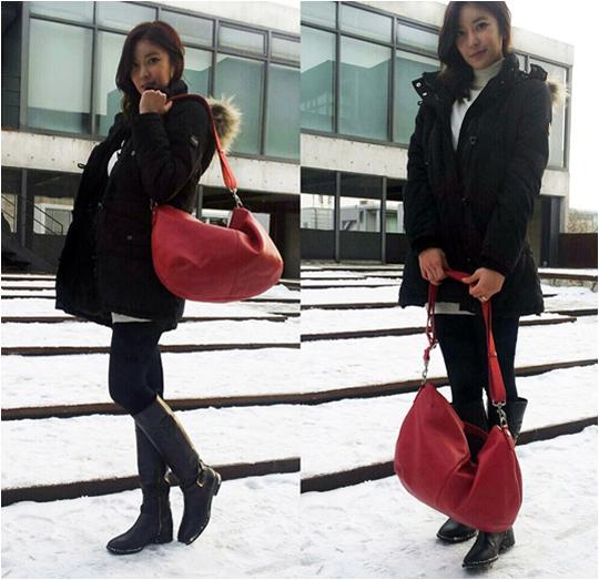 NS Yoon Ji Looks Spectacular Even in Wintertime