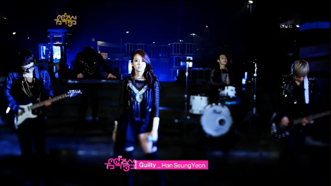 "Kara's Seungyeon Makes Her Solo Debut Performance on Music Core with ""Guilty"""