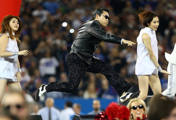 "PSY Heats Up The NFL with Half-Time Performance of ""Gangnam Style"""
