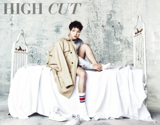 "Song Joong Ki's Two Faces for ""High Cut"""