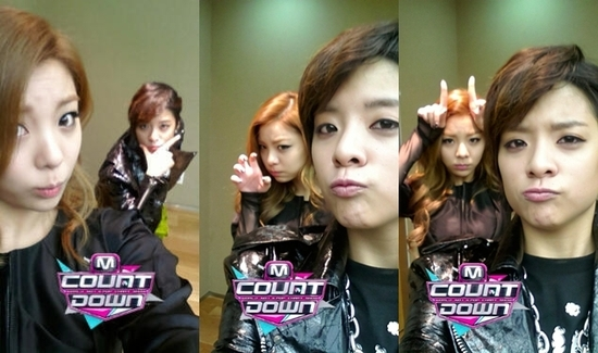 Ailee and f(x)'s Amber Take 3 Funny Selcas