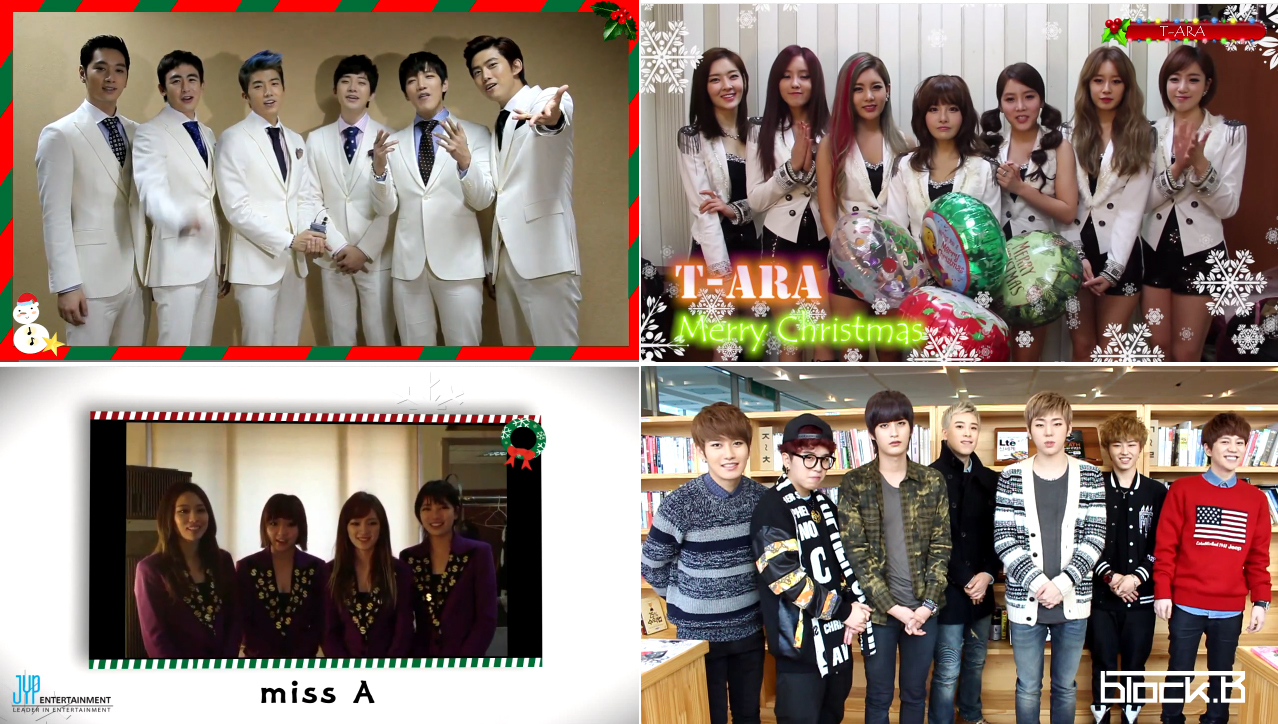 Christmas Greetings from K-Pop Stars