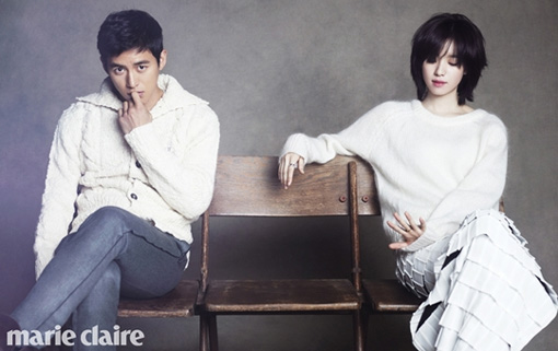 "Go Soo and Han Hyo Joo Are a Lovely Couple for ""Marie Claire"""