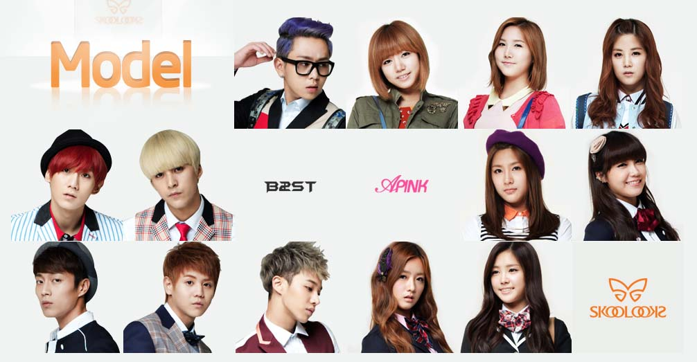 """A Pink and BEAST Look Adorable Together at """"Skool Looks"""" Photoshoot"""