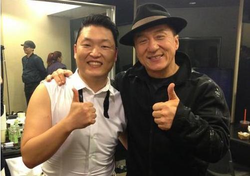 PSY and Jackie Chan Looking Chummy at MAMA 2012