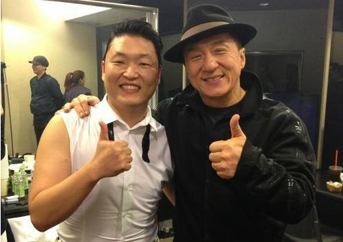 PSY and Jackie Chan Looking Chummy at MAMA 2012