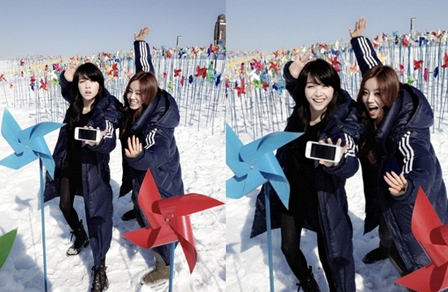 Girl's Day's Minah and Hyeri Strike a Martial Arts Pose