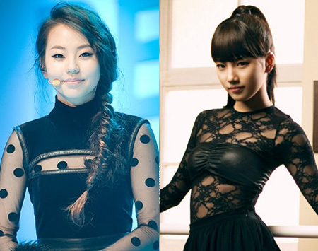 Photoshopped Image of miss A's Suzy And Wonder Girls' Sohee Form Mysterious Beauty