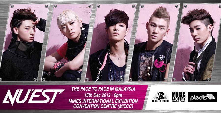 """NU'EST to Hold """"The Face to Face in Malaysia"""" Fan Meeting on December 15"""