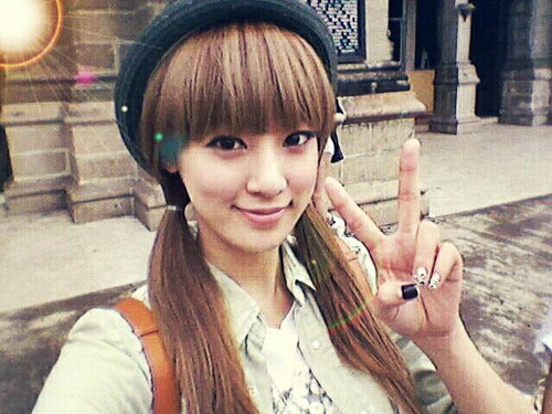 After School's Jooyeon Shows Off Her Striking Eyes on Her Selca
