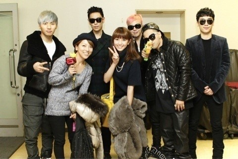 Japanese Celebrities Attend Big Bang Concert and Take Pictures