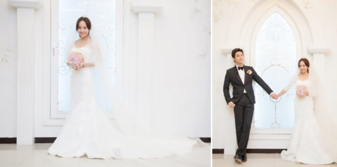 Eugene Looks Stunning in a Wedding Dress for Upcoming Drama