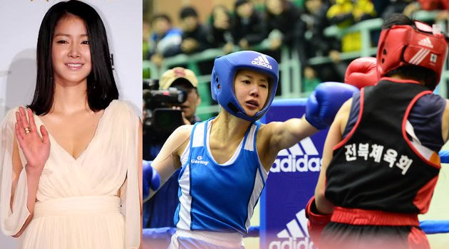 "Lee Si Young Enters the Semifinals for ""2013 Boxing National Championships"""