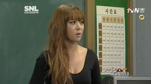 "Brown Eyed Girls' Narsha Reveals Her Real Tattoo on ""SNL Korea"""