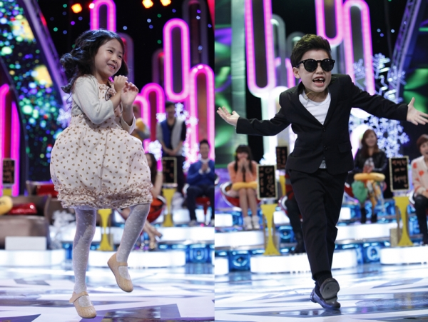 """Little PSY"" and Park Min Ha Dance ""Gangnam Style"" Together"