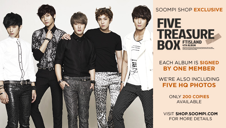 """[Soompi Shop] Autographed FT Island's """"Five Treasure Box"""" CD Special Package!"""